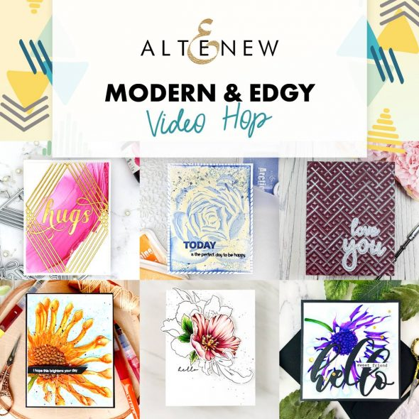 Altenew Modern & Edgy Collection Release Video Hop + Giveaway