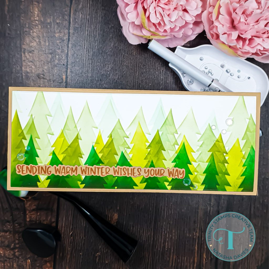 rustic winter holiday card